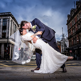 In the City by Joe Jones - Wedding Bride & Groom ( wedding photography, wedding, wedding day, bride and groom, bride, groom )