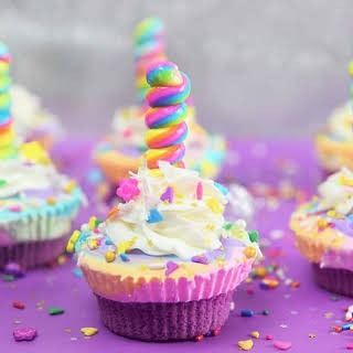 Unicorn Ice Cream Cupcakes.