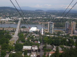 Photo: view down - see the tram approaching?