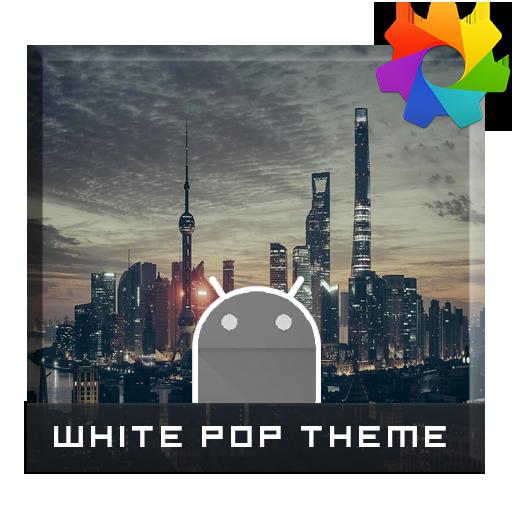 White Pop Theme For Xperia