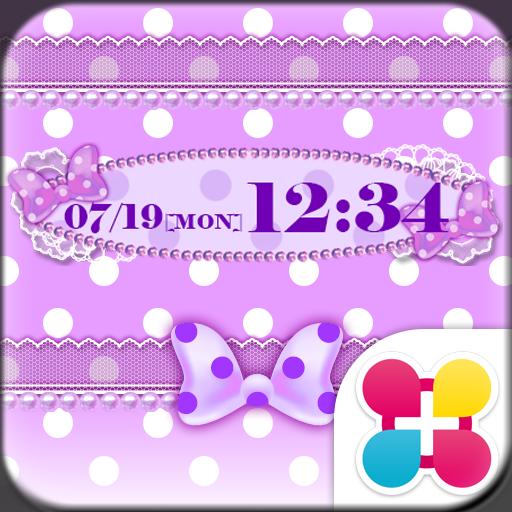 Purple polka dot Wallpaper Icon