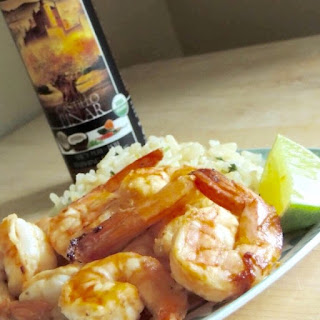 Coconut Coriander Shrimp with Cilantro Lime Jasmine Rice {Gluten Free}.