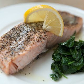 Steamed Salmon with Watercress and Lemon Butter Recipe