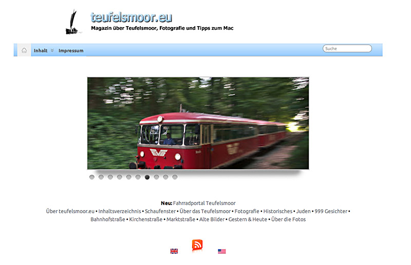 Titelseite teufelsmoor.eu im Jahr 2011
