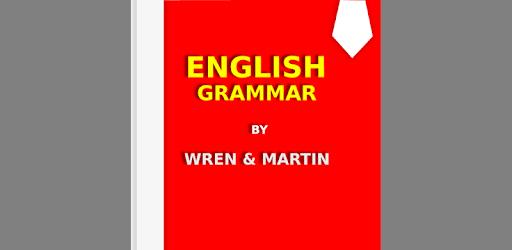 wren & martin english grammar book