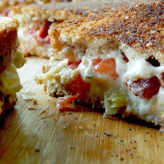 Creamy Tomato, Bacon & Artichoke Grilled Cheese