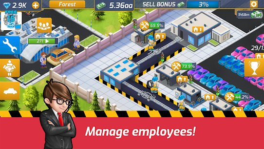 Idle Car Factory Mod Apk 14.1.2 (Free Shopping) 1