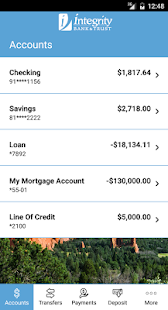 Integrity Mobile Banking screenshot