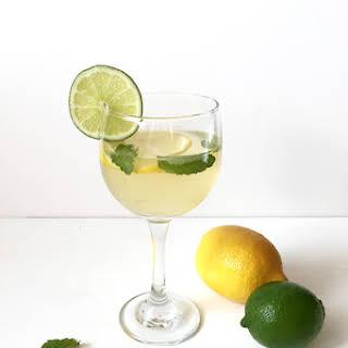 Lemon-Lime + Mint White Wine Sangria.