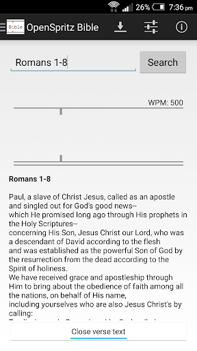 OpenSpritz Bible by ampers (Google Play, United States) - SearchMan