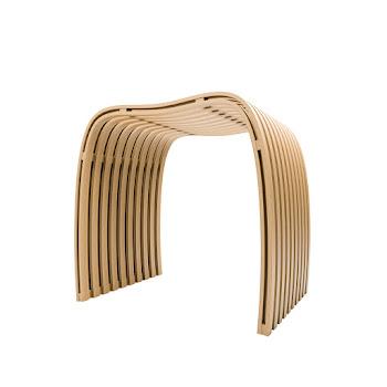 Badsitz aus Bambus, 40,5 x 30,5 x 46 cm