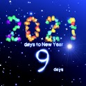 New Year countdown 2021 icon