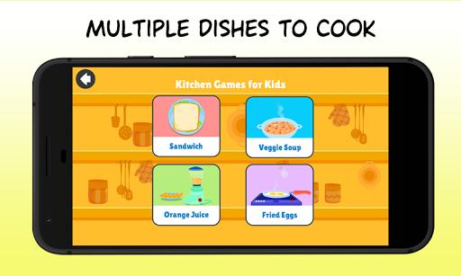 Kitchen Games - Fun Kids Cooking & Tasty Recipes 1.0 screenshots 2