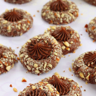 Chocolate Hazelnut Thumbprint Cookies