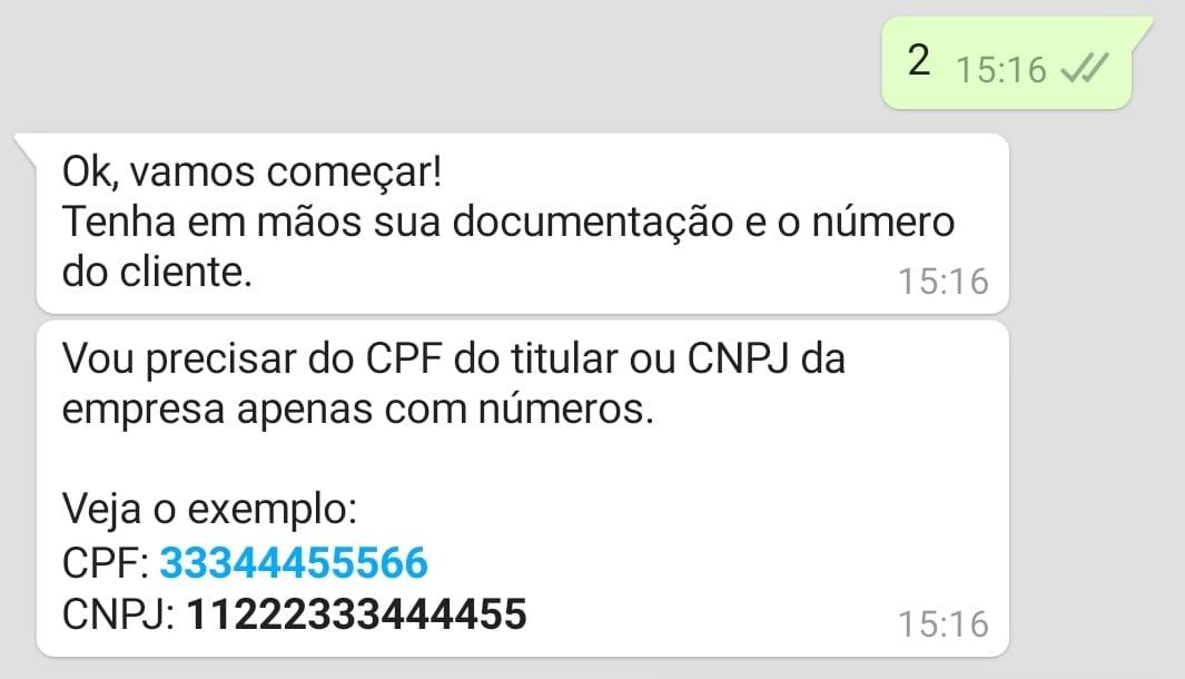 whatsapp cemig