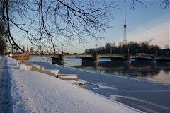 Le fleuve Neva en hiver