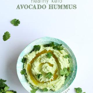 Healthy Keto Avocado Hummus.