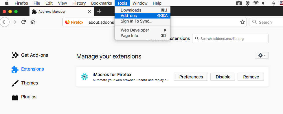 Firefox Add-ons Extensions