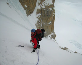 Photo: In the Japanese Couloir on Denali