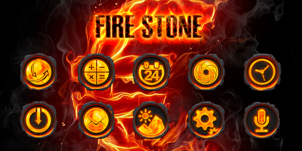 android Fire Stone-Solo Theme Screenshot 0