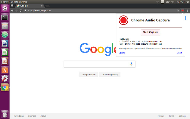 Chrome Audio Capture