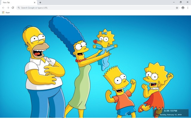 The Simpsons HD New Tab Theme