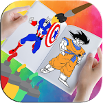 Super Heroes Coloring Book Icon