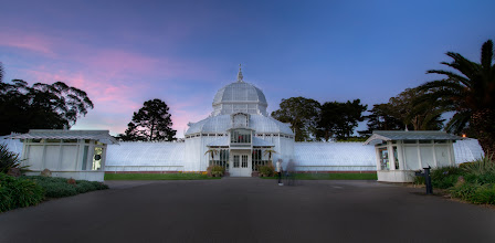 Photo: Sunset at The Conservatory San Francisco, CA. 2012.  I hope to photograph this building a few more times at sunset and sunrise this year, its so close to my house, that it would be a shame not to.