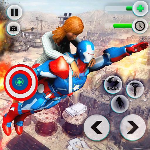 Baixar Flying Robot Captain Superhero Games City Survival para Android