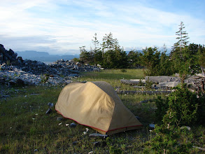 Photo: Campsite at Grilse Point.
