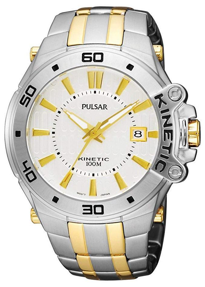 Pulsar PAR147, Kinetic Watch, Japanese Made Watch, Silver Watch, Water-resistant