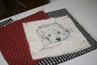 Photo: рисунок машинной стёжкой для подушки