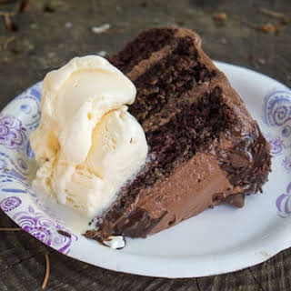 Quadruple Chocolate Birthday Cake.