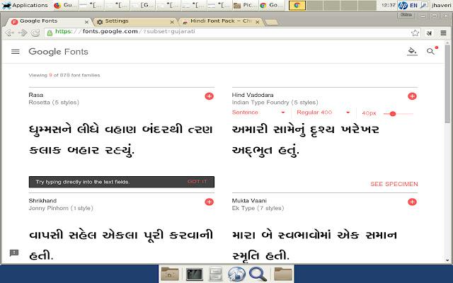 Gujarati Font Pack