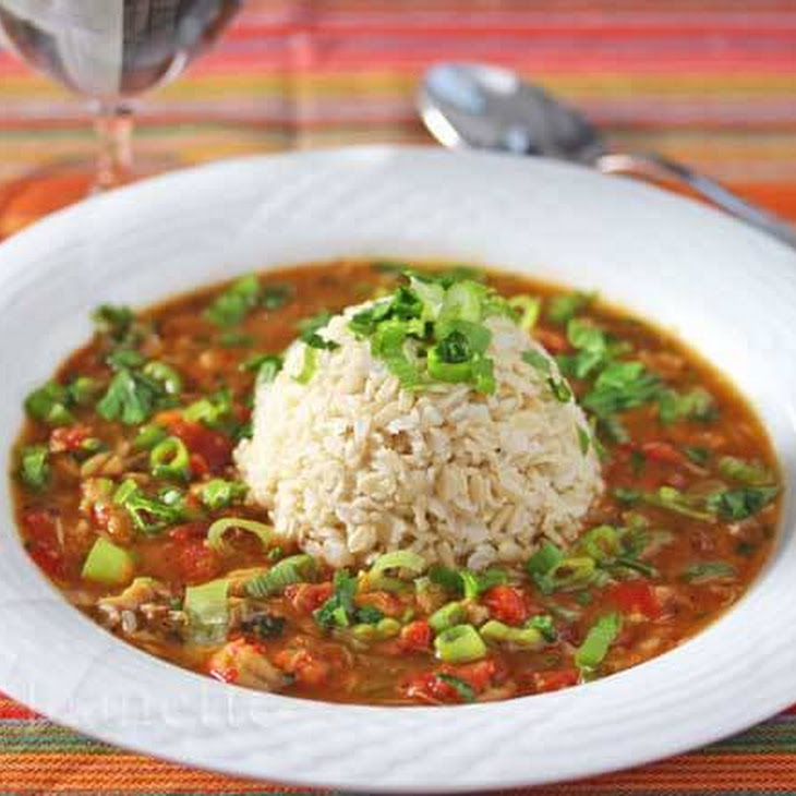 A Healthier Gluten-Free Crawfish and Crab Gumbo