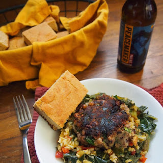 Black-Eyed Pea Patties with Hoppin' Collards