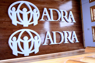 Photo: Wood Sign Letters for ADRA International of Baltimore MD. Buy Sign Lettering at http://www.nicecarvings.com/