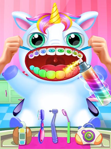 Little Unicorn Pet Doctor Dentist apktram screenshots 1
