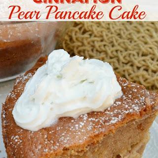 Cinnamon Pear Pancake Cake Recipe