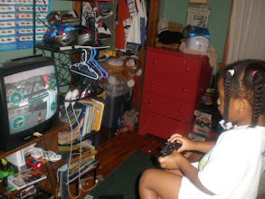 Photo: playing video games