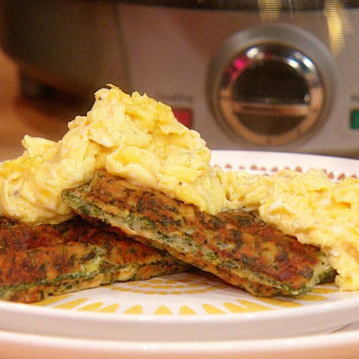 Spinach-Artichoke Waffles