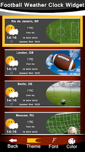 Football Weather Clock Widget - náhled