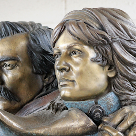 The Pioneers by Leah Zisserson - Artistic Objects Other Objects ( pioneers, couple, woman, arizona, statue, man, western, bronze )
