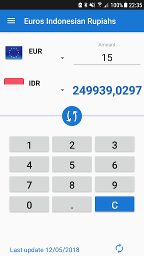 Euro To Indonesian Rupiah Eur Idr Converter Screenshot 2