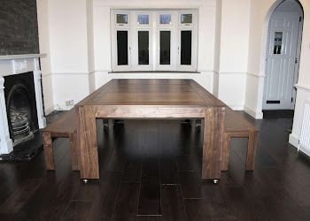 Spartan Dining Table Next to Fire Place