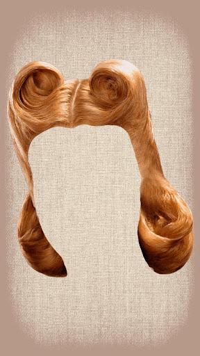 レトロなヘアスタイル写真モンタージュ