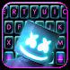 最新版、クールな Music Dj Man のテーマキーボード