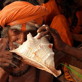 PILGRIM by Ajit Kumar Majhi - People Portraits of Men (  )