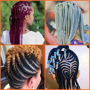 African girl's hairstyle