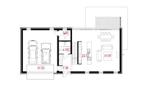 House 27 - Rzut parteru